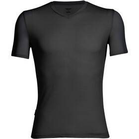 Icebreaker Anatomica SS V-Neck Shirt Herre black/monsoon